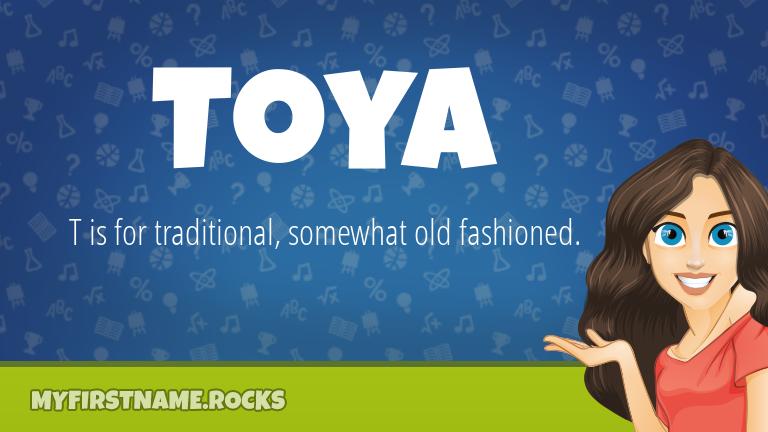My First Name Toya Rocks!