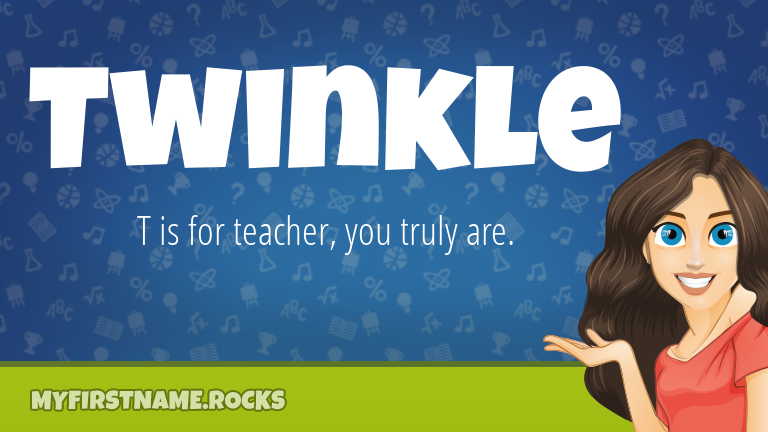 My First Name Twinkle Rocks!