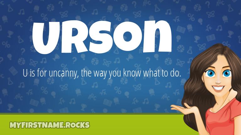 My First Name Urson Rocks!