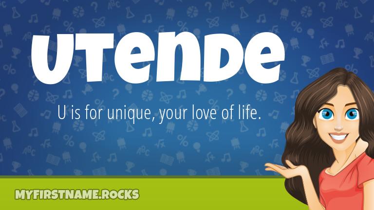 My First Name Utende Rocks!