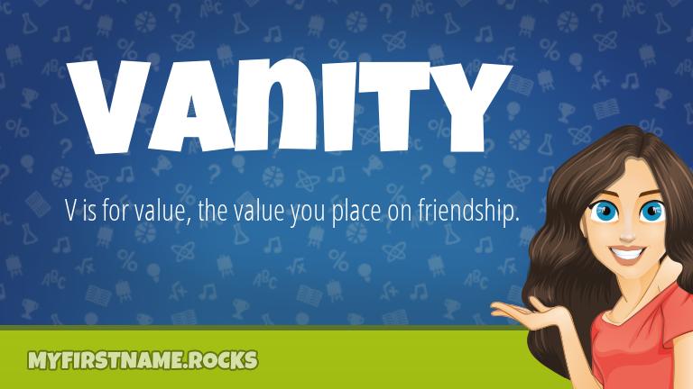 My First Name Vanity Rocks!