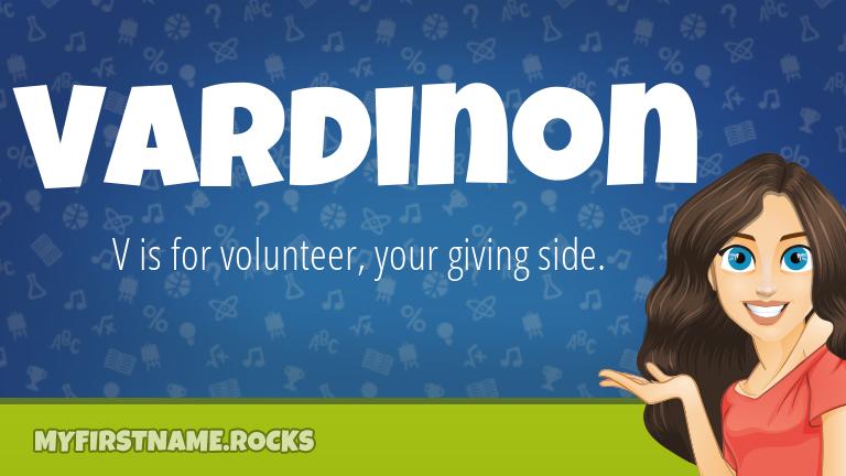 My First Name Vardinon Rocks!