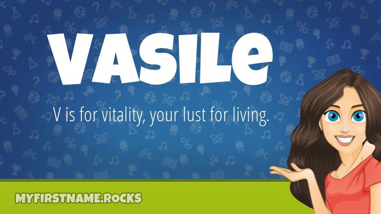 My First Name Vasile Rocks!