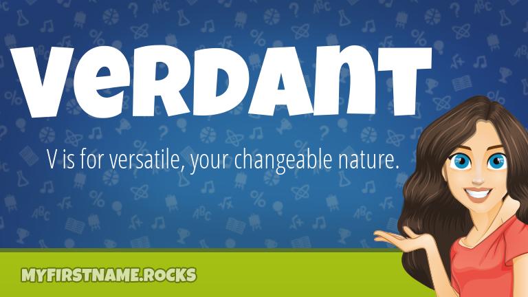 My First Name Verdant Rocks!