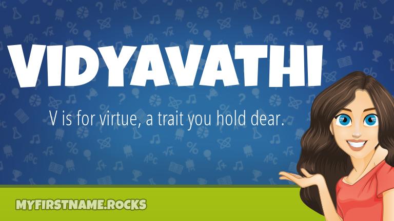 My First Name Vidyavathi Rocks!