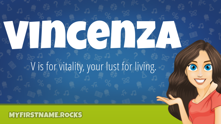 My First Name Vincenza Rocks!