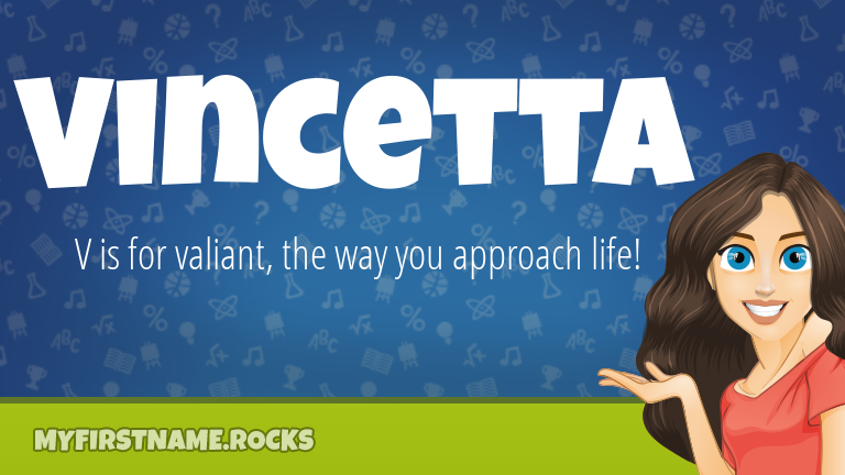 My First Name Vincetta Rocks!