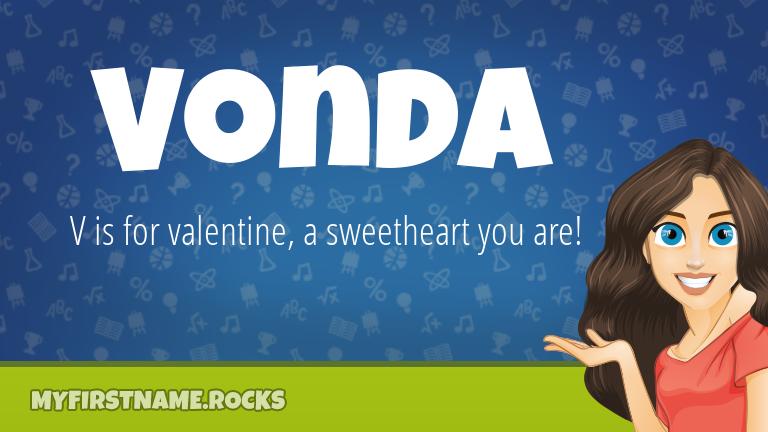 My First Name Vonda Rocks!