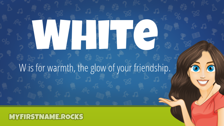 My First Name White Rocks!