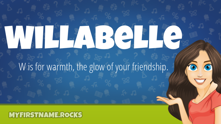 My First Name Willabelle Rocks!