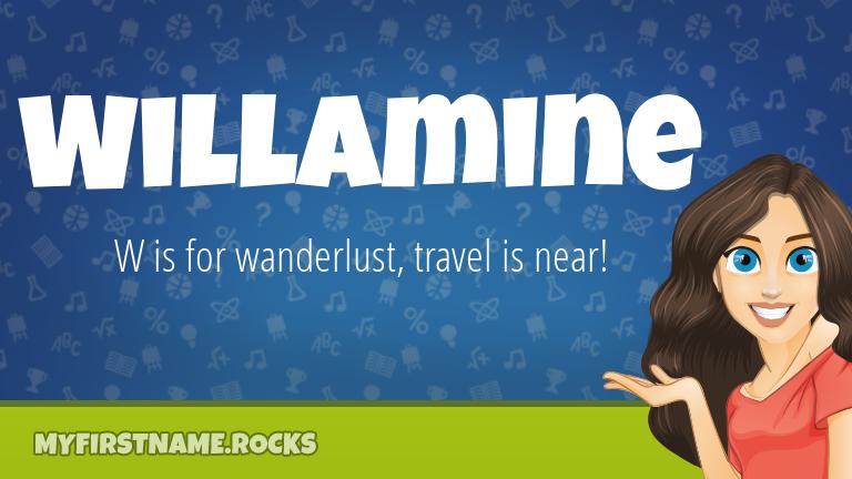 My First Name Willamine Rocks!