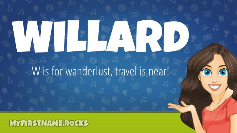 My First Name Willard Rocks!