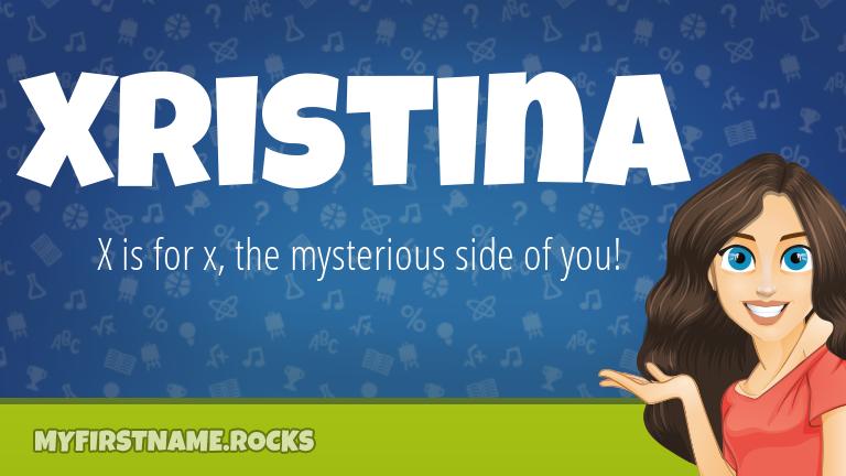 My First Name Xristina Rocks!