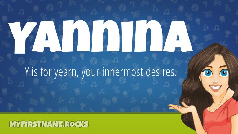 My First Name Yannina Rocks!