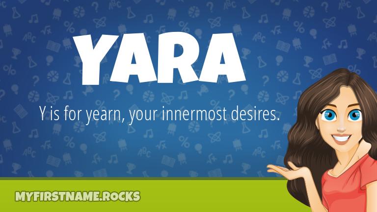 My First Name Yara Rocks!