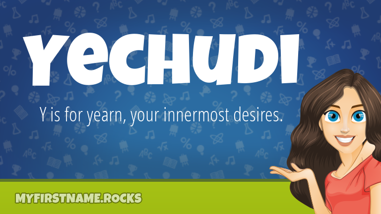 My First Name Yechudi Rocks!