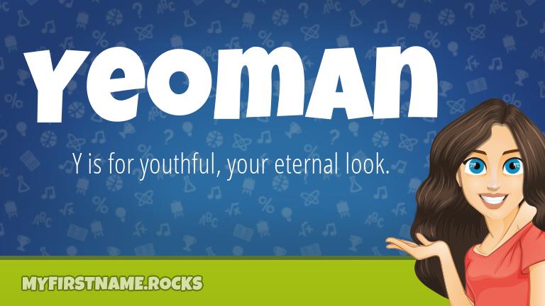 My First Name Yeoman Rocks!