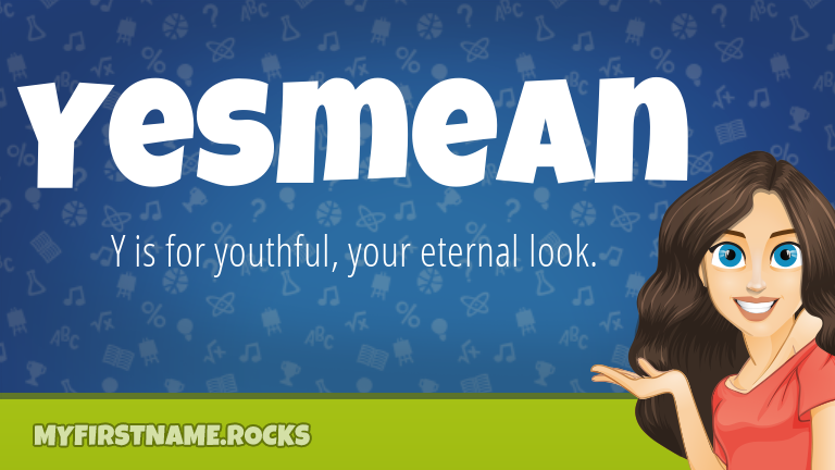 My First Name Yesmean Rocks!