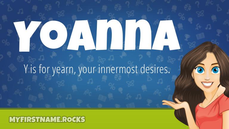 My First Name Yoanna Rocks!