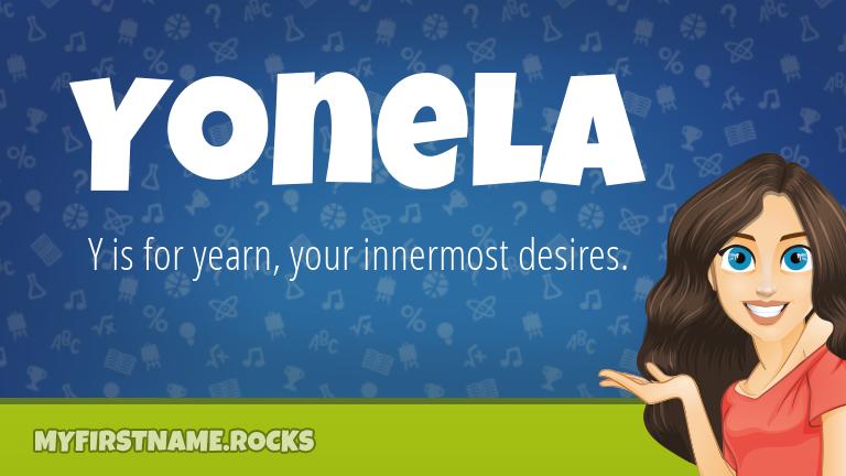 My First Name Yonela Rocks!