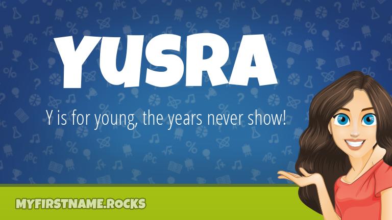 My First Name Yusra Rocks!