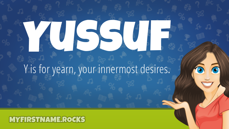 My First Name Yussuf Rocks!