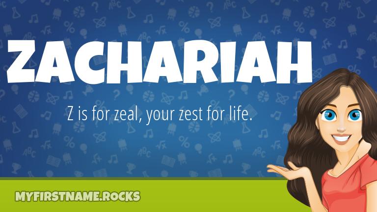 My First Name Zachariah Rocks!