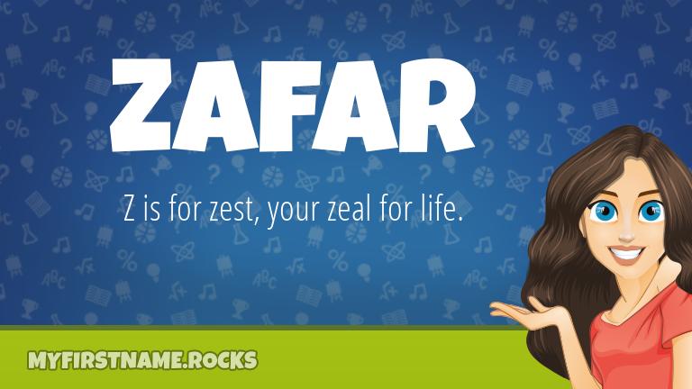 My First Name Zafar Rocks!