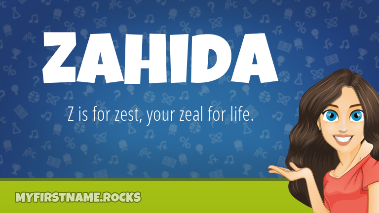 My First Name Zahida Rocks!
