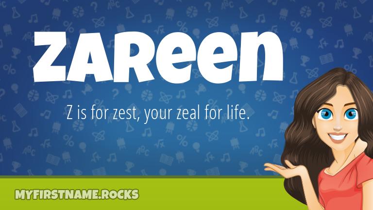 My First Name Zareen Rocks!