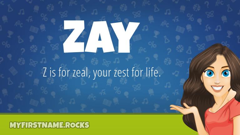 My First Name Zay Rocks!