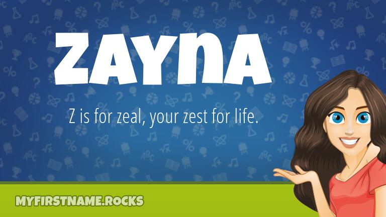 My First Name Zayna Rocks!