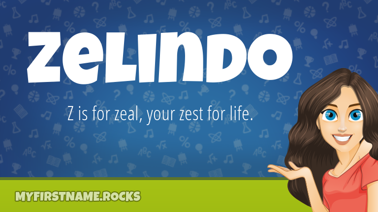 My First Name Zelindo Rocks!