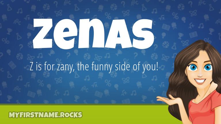 My First Name Zenas Rocks!