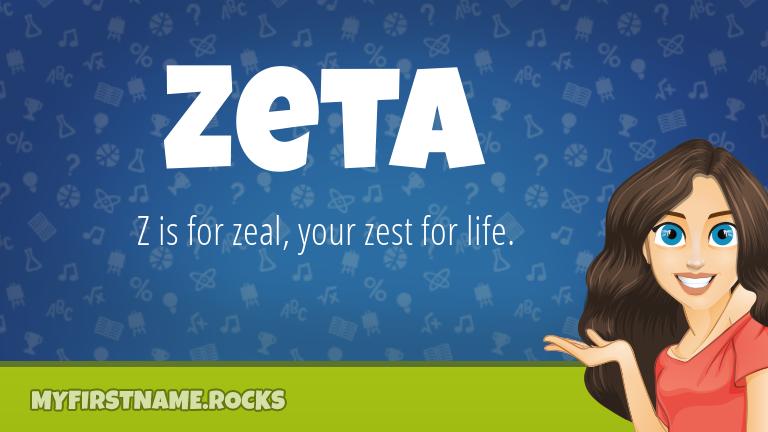 My First Name Zeta Rocks!