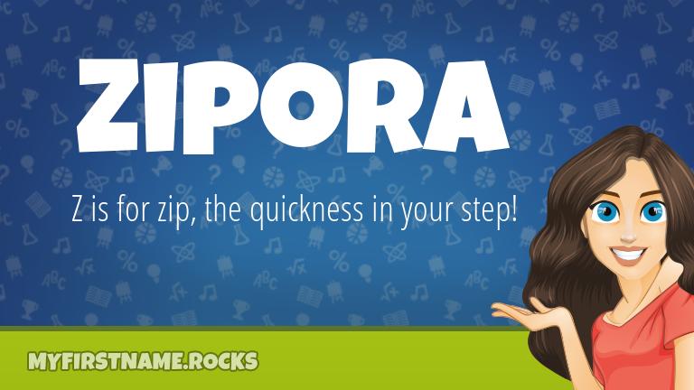 My First Name Zipora Rocks!