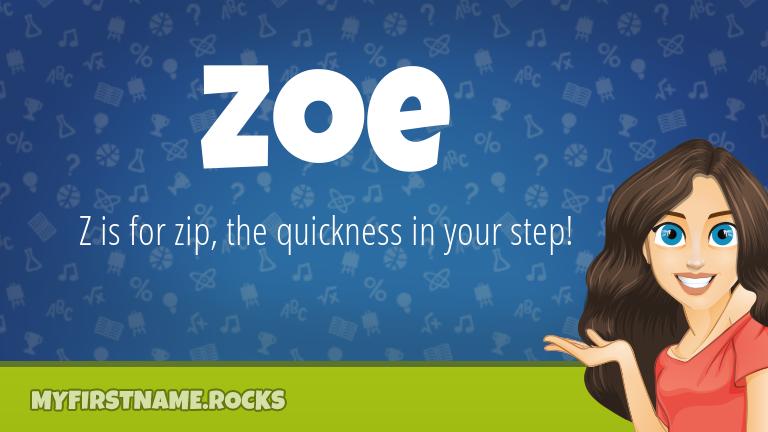 My First Name Zoe Rocks!