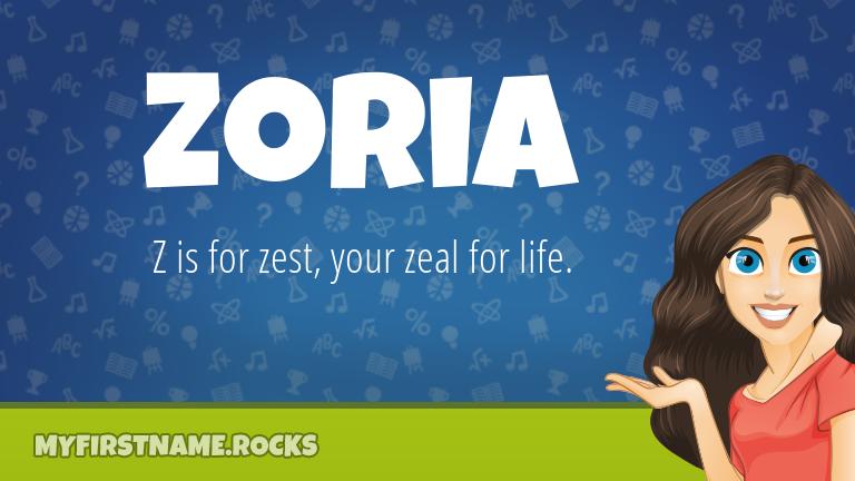 My First Name Zoria Rocks!