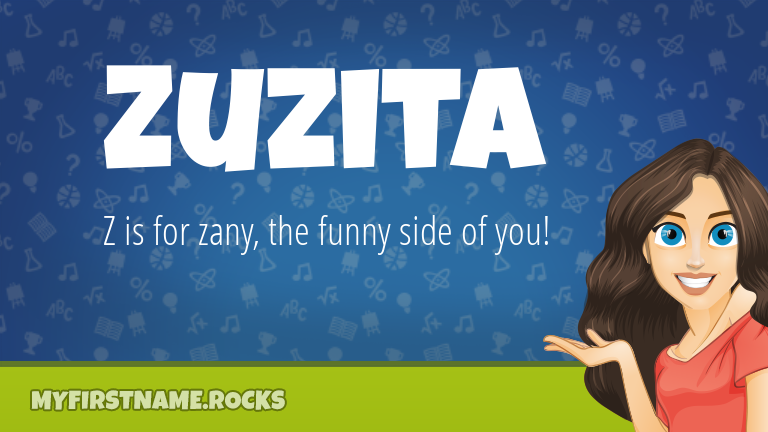 My First Name Zuzita Rocks!
