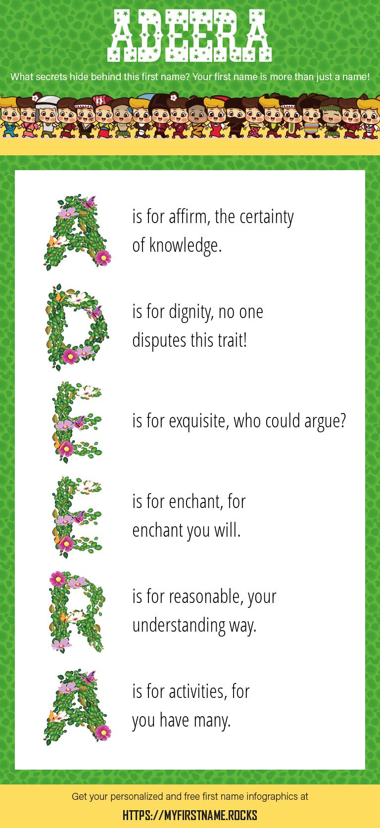 Adeera Infographics