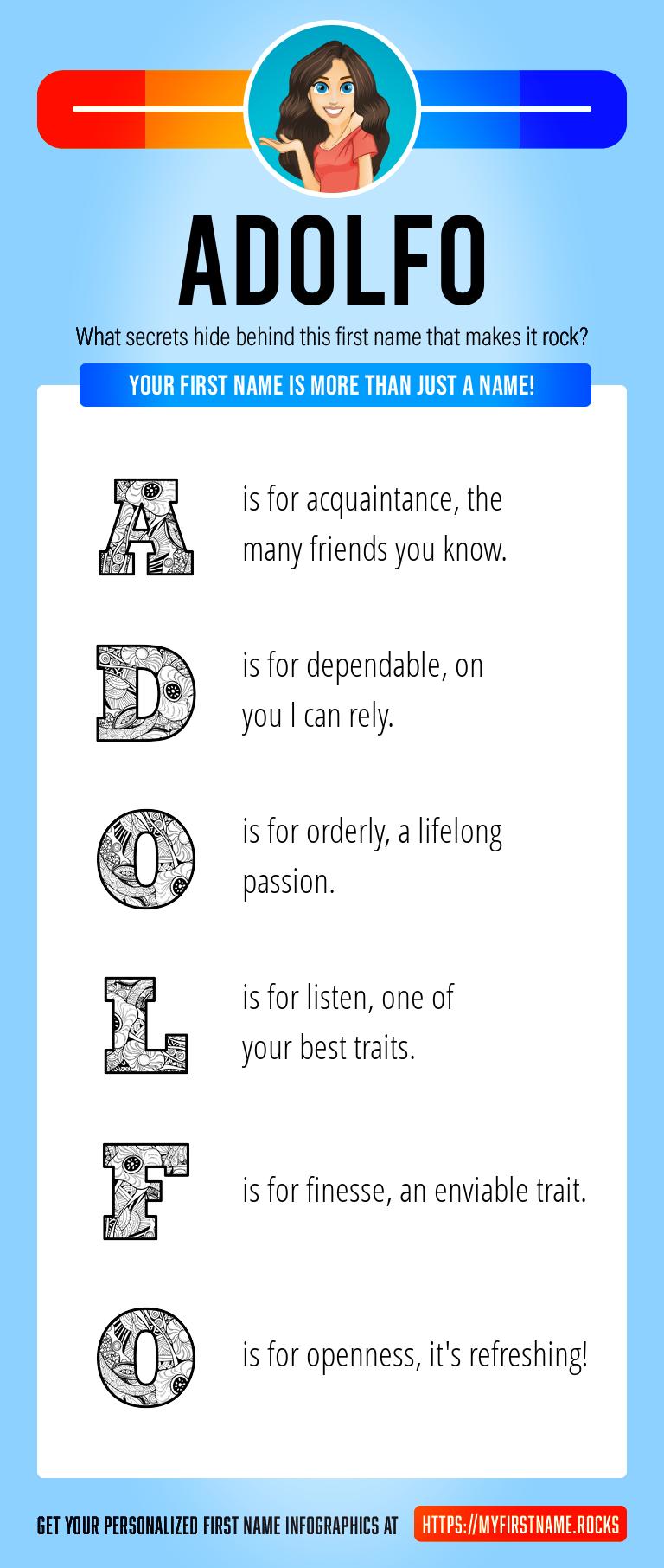 Adolfo Infographics