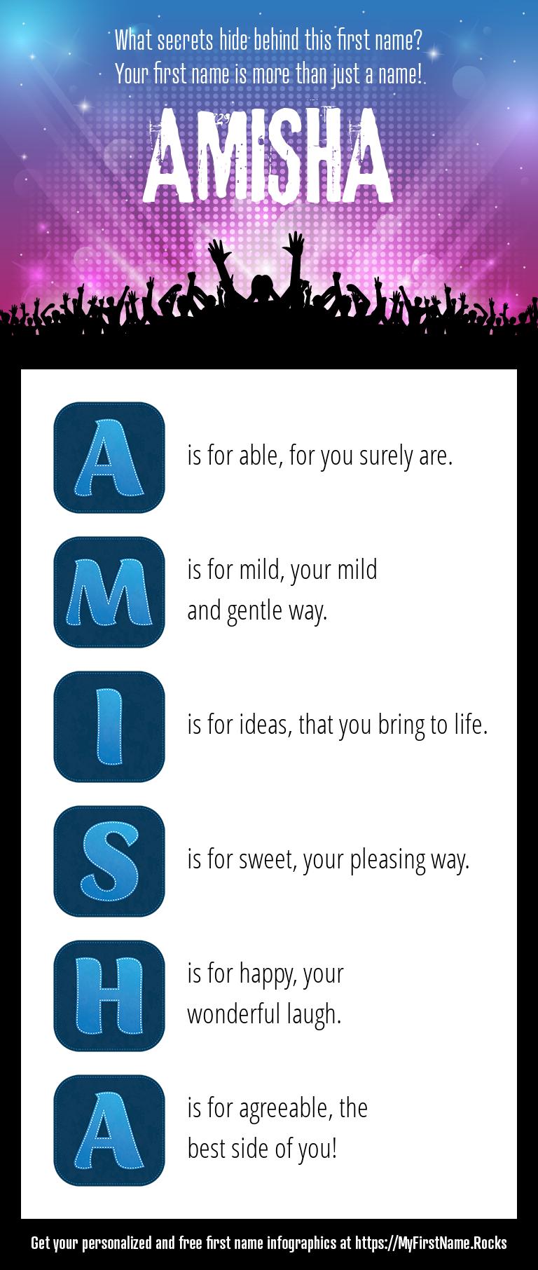 Amisha Infographics