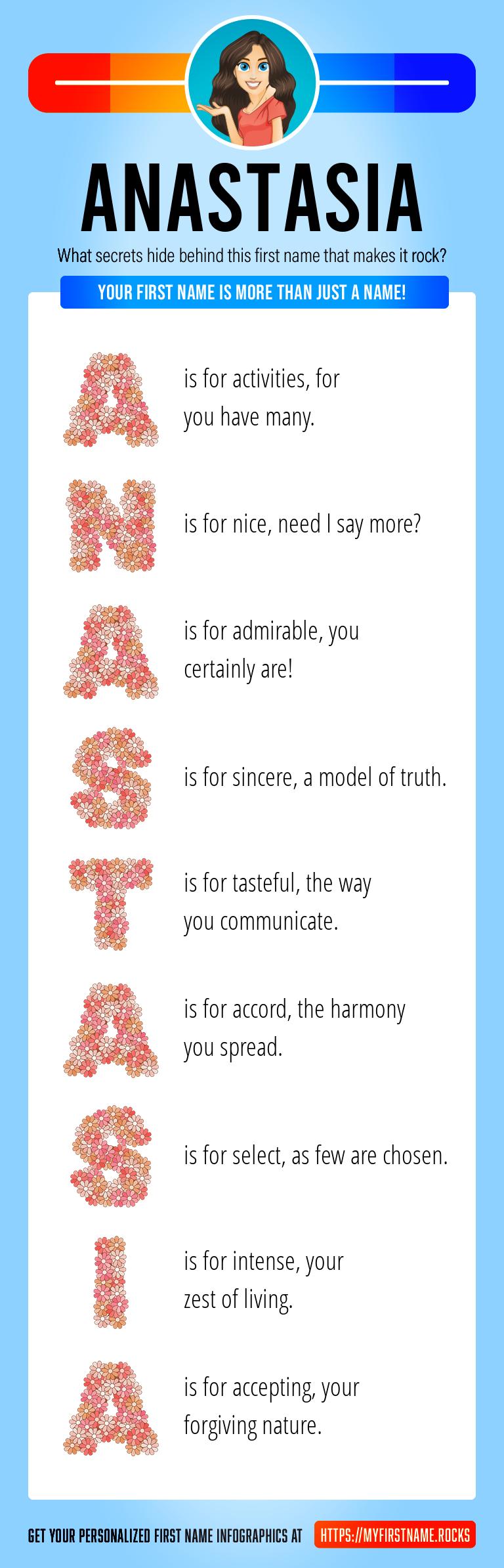 Anastasia Infographics