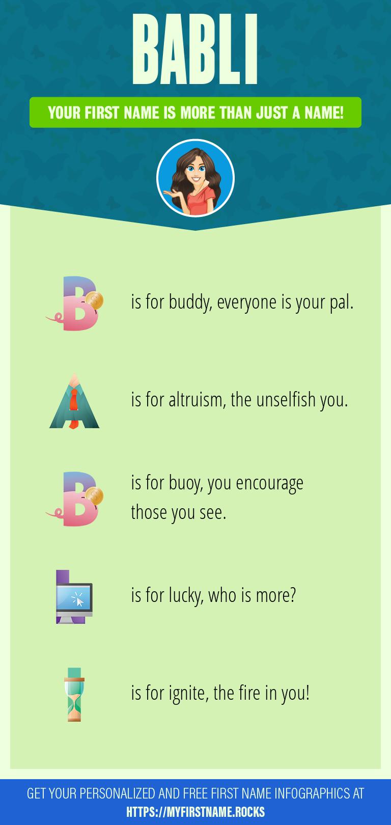 Babli Infographics