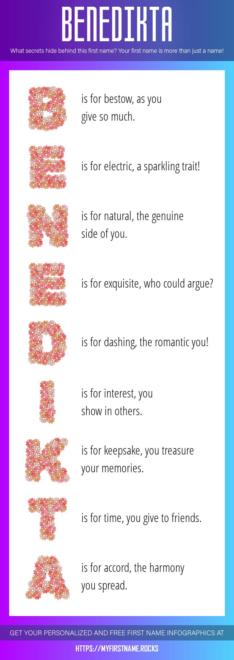 Benedikta Infographics