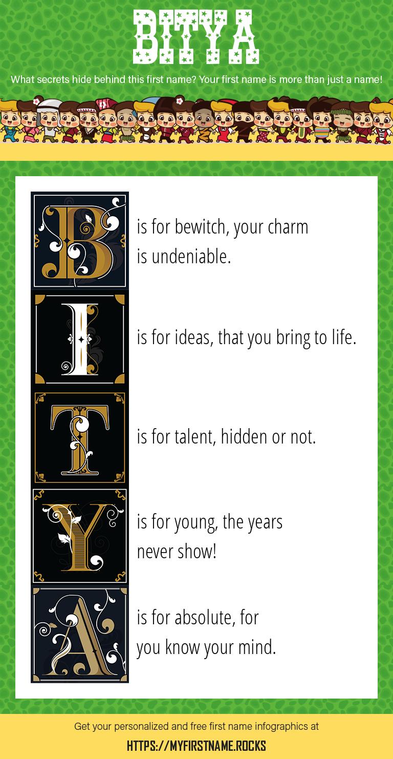 Bitya Infographics