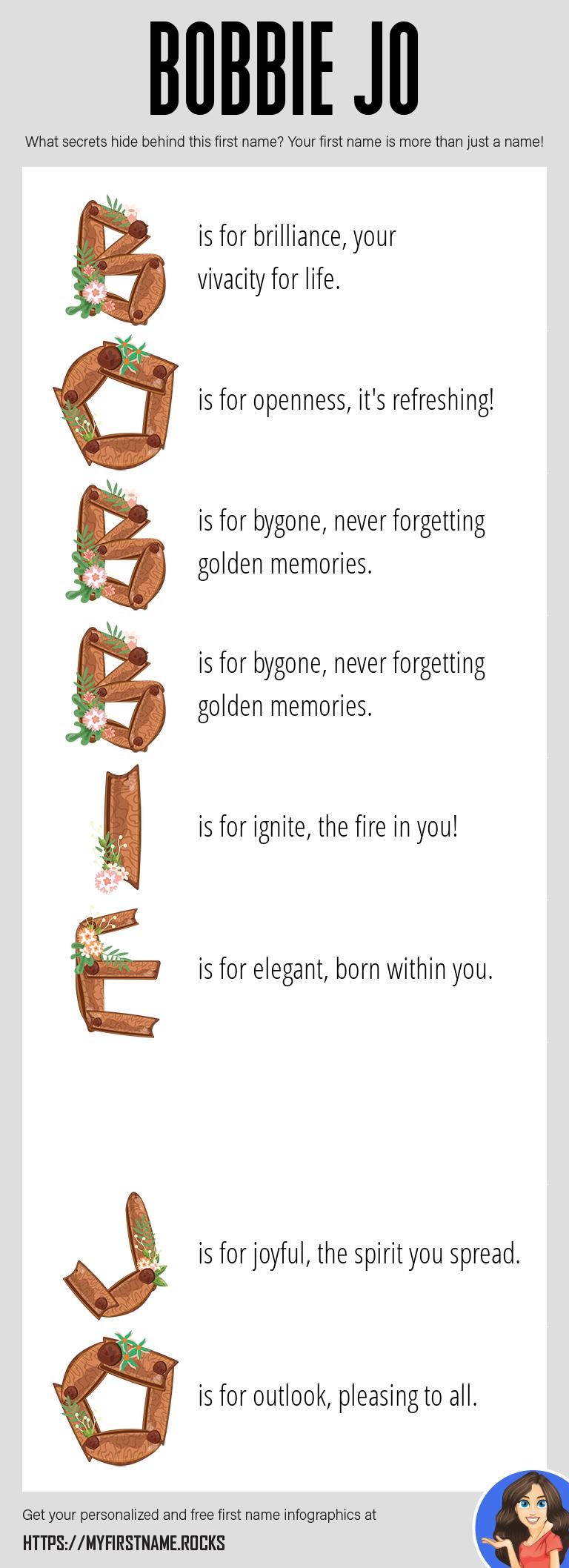 Bobbie Jo Infographics