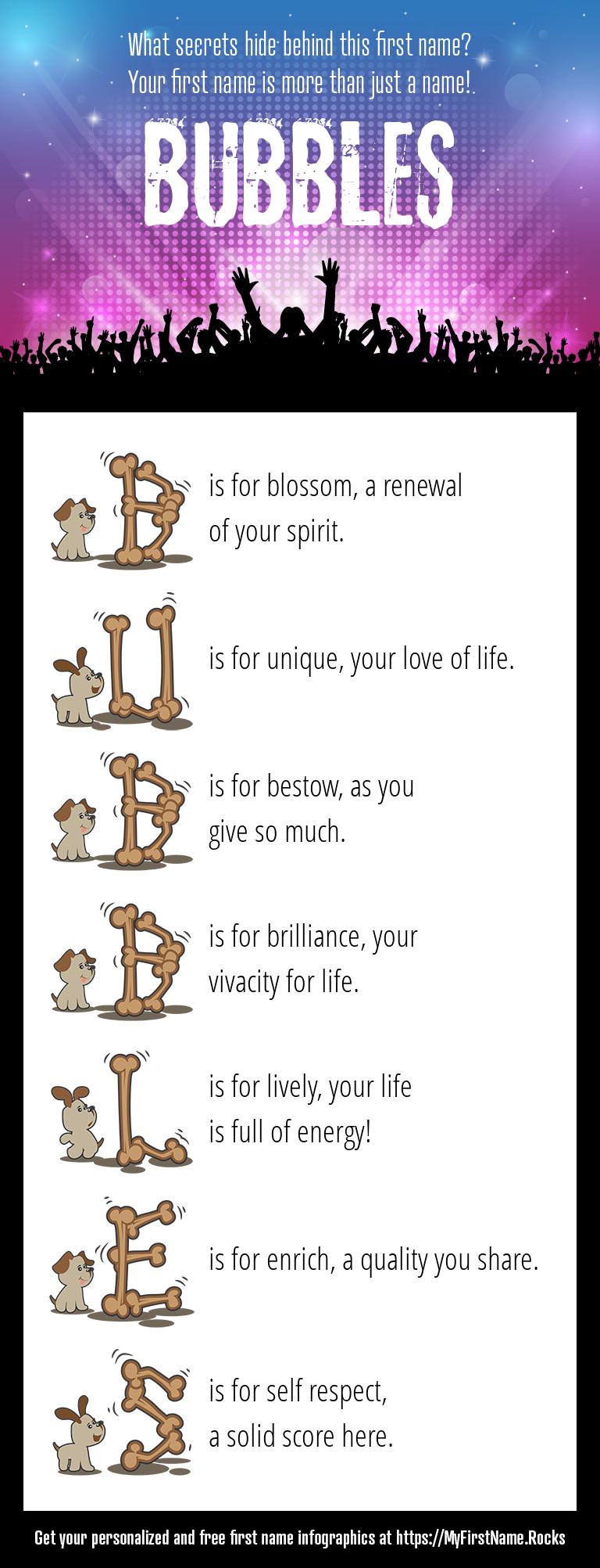 Bubbles Infographics