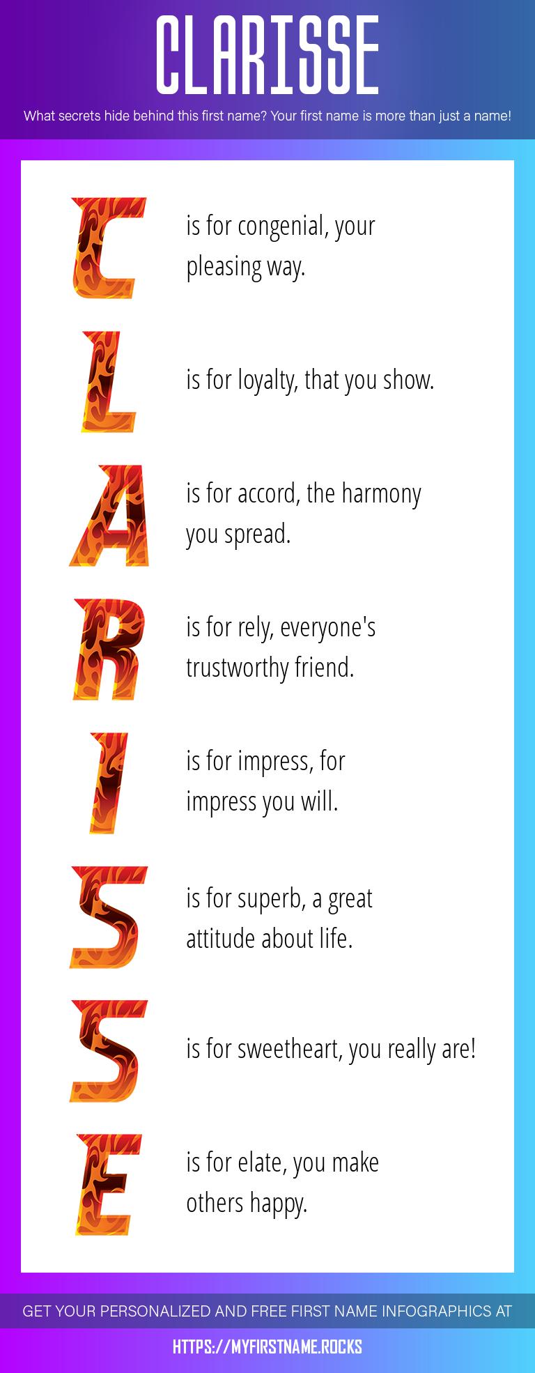 Clarisse Infographics