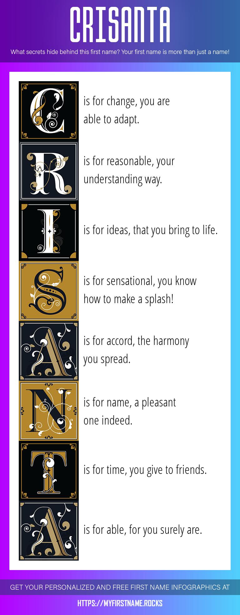 Crisanta Infographics